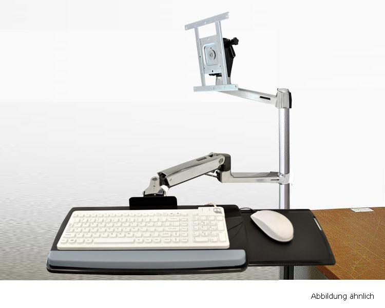 ergotron lx hd tischmontage tastatur. Black Bedroom Furniture Sets. Home Design Ideas