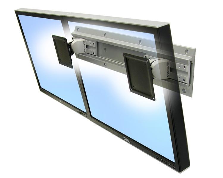ergotron 28 514 800 neo flex monitor dual wandhalterung. Black Bedroom Furniture Sets. Home Design Ideas