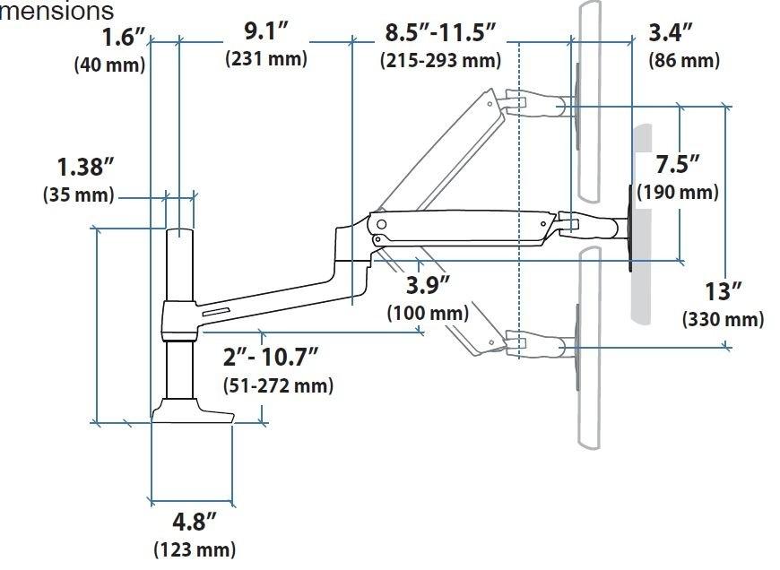 Ergotron LX Arm Monitor Halterung Für USM 46 296 027